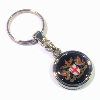 Keyring Blank Pendant 25.4mm and printed domes